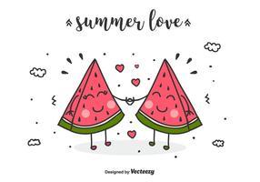 Summer Love Vector Achtergrond