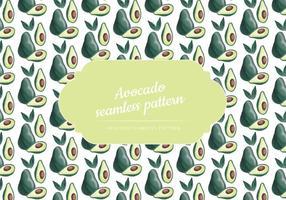 Vector Handgetekende Avocado Naadloos Patroon