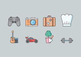 Hobby icon set vector