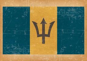 Grunge Stijl Vlag van Barbados