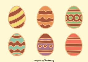 Chocolate Easter Egg Collection Vectors