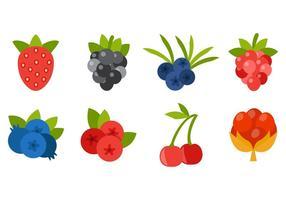 Gratis Berries Icons Vector