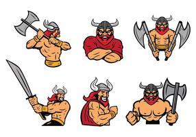 Gratis Vikingen Logo Vector Set