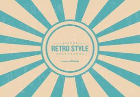 Retro Style Sunburst Achtergrond