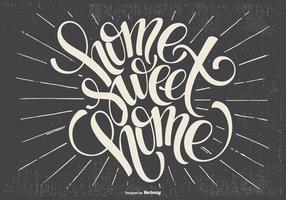 Typografische Home Sweet Home Illustratie
