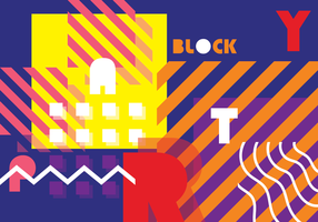 Block Party Vector Achtergrond