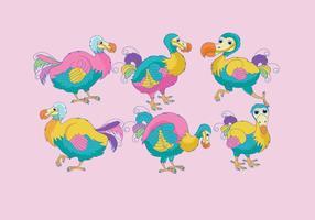 Dodo Kleurrijke Vector