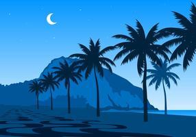 Nacht Van Copacabana Gratis Vector