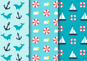 Gratis Zee Nautische Patroon vector