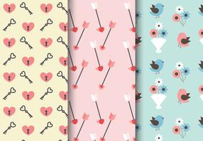 Valentijnsdag Romantisch Patroon vector