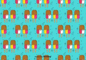 Popsicles Doodle Pattern vector
