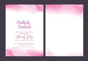 Vector Roze Delicate Watercolour Wedding Invitation