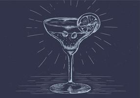 Vrije Hand getekende Vector Drink Illustratie