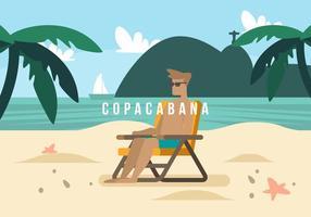 Copacabana Achtergrond vector