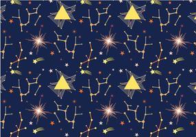 Gratis Space Pattern vectoren
