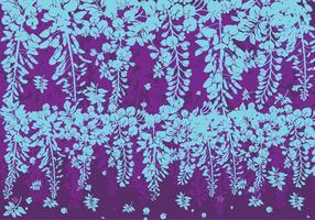 Blauwe en Paarse Wisteria Bloemen Vector