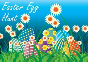 Easter Egg Hunt Vector Illustration