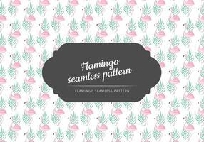 Vector Handgetekend Flamingo Patroon