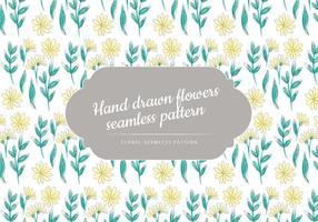 Vector Hand Getekende Naadloze Bloemenpatroon