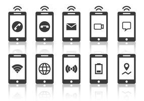 Telecommunicatie- en telefoonvectoren vector