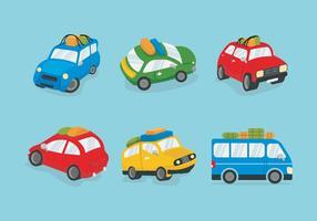Kleurrijke Carpool Vector illustratie