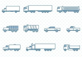 Vrachtwagens Pictogrammen instellen