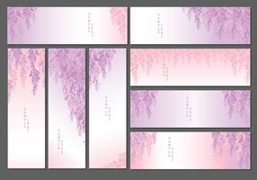 Wisteria Banners Vector