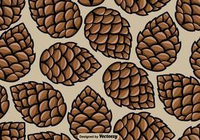 Pine Cone naadloze patroon - Vector