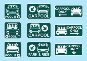 Carpool Teken Icon Vectors