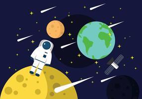 Astronaut In Ruimte vector