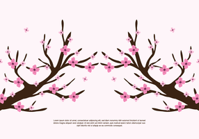 Takken Roze Bloemen vector