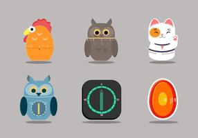 Cute Egg Timer Vector Item Collection