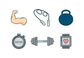 Gratis Unieke Fitness- en Bodybuilder-vectoren