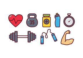 Gym Icon Set vector