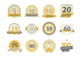 Gelukkige Anniversary Badge vector