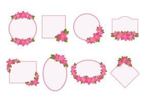 Rhododendron frame vector
