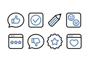 Getuigenissen en Feedback Icon Pack
