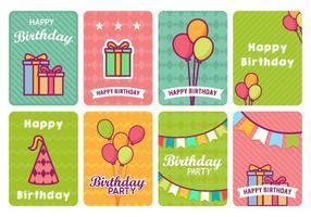 Leuke Kleurrijke Verjaardagskaart Vector s