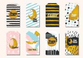 Trendy Easter Gift Tag Vector Pack