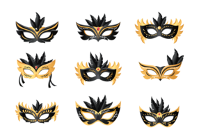 Masquerade Ball Pictogrammen Vector
