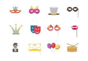 Maskerade party icon vector