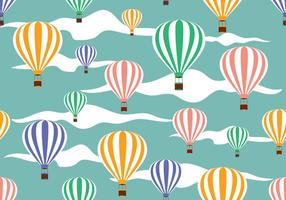 Vector illustratie van hete luchtballonpatroon