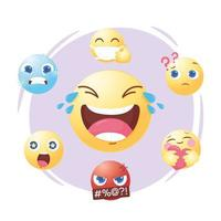 Emoji-set voor sociale media