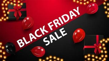 rode en zwarte kortingsbanner voor zwarte vrijdag