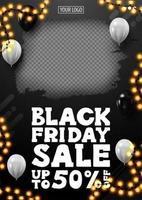 Black Friday-uitverkoop, tot 50 korting op banner