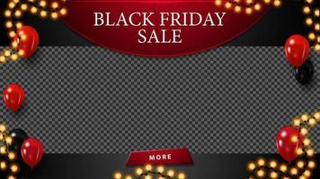 zwarte vrijdag verkoop, korting lege sjabloon vector