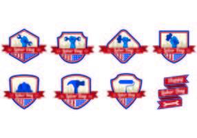 Vector badges voor de arbeidsdag
