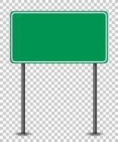 lege groene verkeersbanner op transparante achtergrond