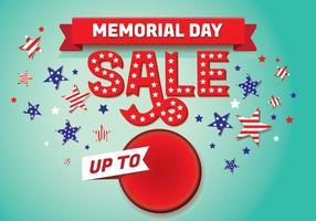 Memorial Day Sale Achtergrond Sjabloon