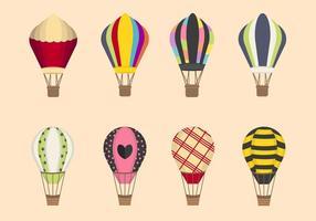 Vlakke Luchtballonvectoren vector